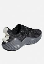 adidas Performance - Alphabounce trainer - black, grey & white