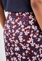 Vero Moda - Billia knee skirt - burgundy & navy