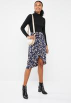 Vero Moda - Billia knee skirt - black & navy
