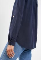 Vero Moda - Debbie lace long sleeve top - navy