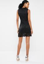 Vero Moda - Emilia sleeveless short lace dress - black