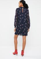 Vero Moda - Maya long sleeve short dress - navy