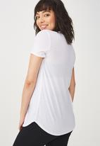 Cotton On - Maternity gym T-shirt - white