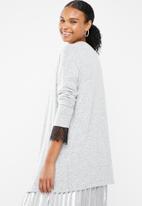 Vero Moda - Gigi lace cardigan - grey
