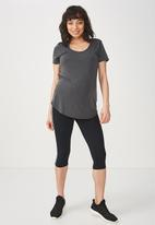 Cotton On - Maternity gym T-shirt - charcoal