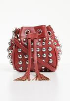 Superbalist - Studded bucket bag - red