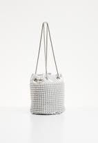 Superbalist - Beaded sling bag - silver