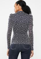 Vero Moda - Desiree long sleeve lace blouse - navy