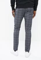 Jack & Jones - Marco Charles check pants - grey