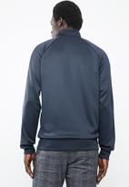 Jack & Jones - Auto sweat high neck side stripe - navy & white