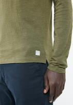 Jack & Jones - Winston long sleeve polo - green