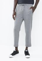 Jack & Jones - Vega pinstripe pants - grey & white