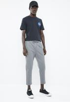 Jack & Jones - Vega pinstripe pants - grey & white