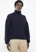 Superbalist - Chunky textured roll neck knit - navy