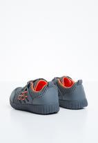 Naughty Kids - Lace sneaker - grey & orange