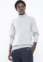 Superbalist - Basic roll neck  slim fit knit - grey