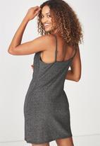 Cotton On - Cowl neck mini dress - silver