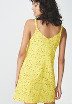 Cotton On - Woven Margot button through dress - yellow