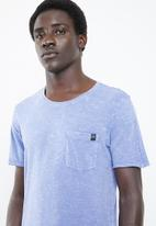 Jack & Jones - Turbo scoop neck short sleeve tee -  blue