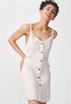 Cotton On - Woven margot button through dress - multi