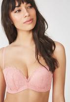 Cotton On - Jojo wire-free comfy strapless bra - pink