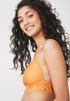 Cotton On - Maddie lace wire-free bra - orange