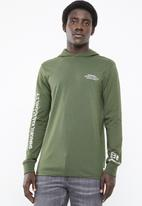Only & Sons - Dean long sleeve hoodie - green