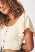 Cotton On - Ava blouse - apricot