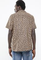Only & Sons - Alex Leo resort short sleeve shirt - brown
