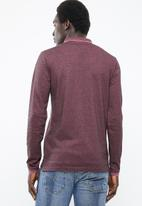 Only & Sons - Stan long sleeve fitted polo tee - purple
