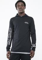 Only & Sons - Dean long sleeve tee hoodie - black