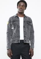 Only & Sons - Coin badge jacket - black