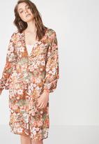 Cotton On - Woven textured robe - multi