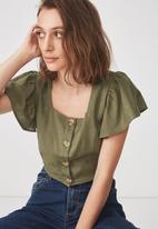 Cotton On - Ava blouse - khaki