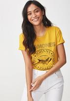 Cotton On - Premium graphic tee Ramones - yellow