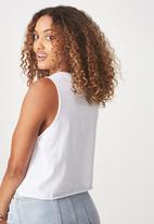 Cotton On - Tbar lola graphic Mon Cheri tank top - white
