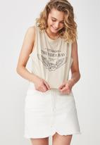 Cotton On - Tbar Lola graphic tank top - beige