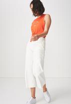 Cotton On - Tbar Maeve tie front tee - orange