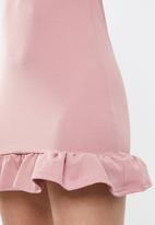 Missguided - Frill detail mini dress - pink