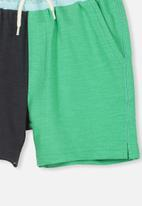 Cotton On - Henry slouch short -  green & blue