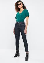 Superbalist - Knit twofer bodysuit - green