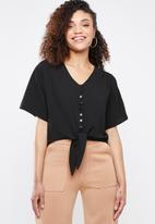 Superbalist - Tie front blouse - black