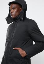 Bellfield - Hooded puffa jacket - black