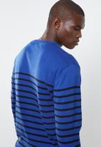 Pringle of Scotland - Bruce v-neck knit - blue & black