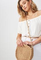 Cotton On - Summer circle bag - beige