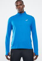 Asics - Silver LS 1/2 zip top - blue