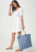 Cotton On - Slouchy washed tote - blue