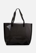 Cotton On - Crystal clear tote - black