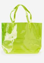 Cotton On - Crystal clear tote - green