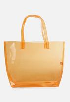 Cotton On - Crystal clear tote - orange